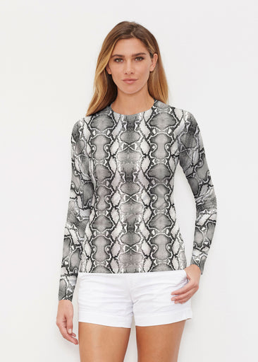 Python Silver (7272) ~ Long Sleeve Rash Guard