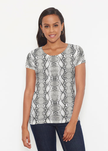 Python Silver (7272) ~ Signature Short Sleeve Scoop Shirt