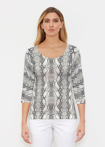 Python Silver (7272) ~ Signature 3/4 Sleeve Scoop Shirt