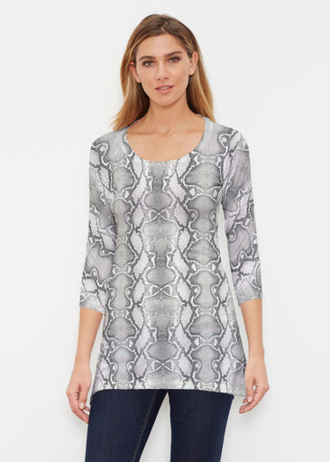 Python Silver (7272) ~ Buttersoft 3/4 Sleeve Tunic
