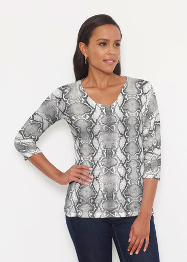 Python Silver (7272) ~ Signature 3/4 V-Neck Shirt