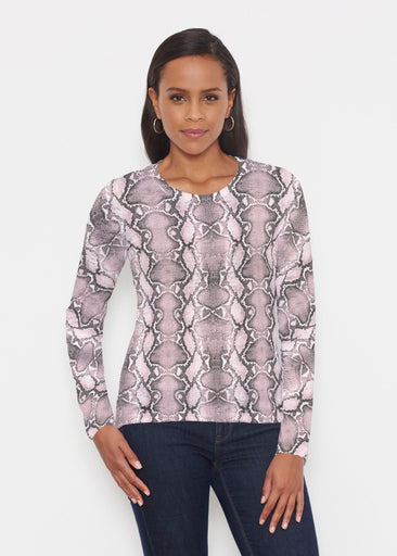 Python Blush (7273) ~ Signature Long Sleeve Crew Shirt