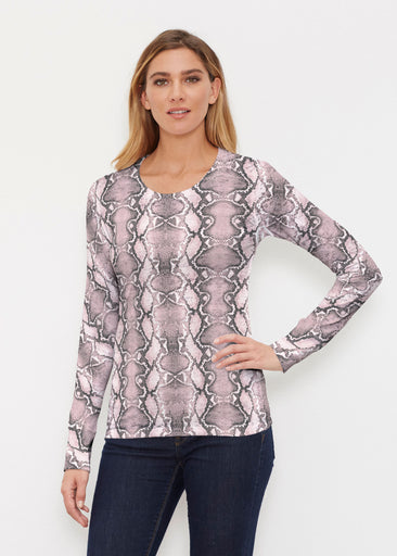 Python Blush (7273) ~ Thermal Long Sleeve Crew Shirt