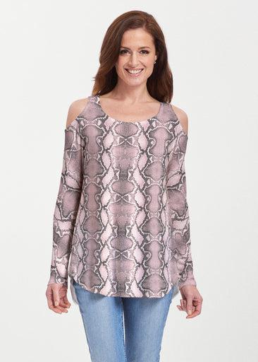 Python Blush (7273) ~ Butterknit Cold Shoulder Tunic