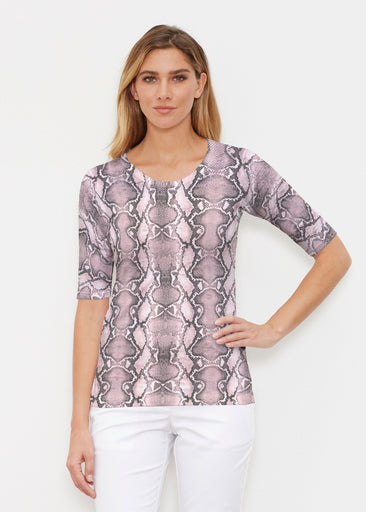 Python Blush (7273) ~ Signature Elbow Sleeve Crew Shirt