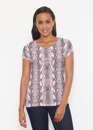 Python Blush (7273) ~ Signature Short Sleeve Scoop Shirt