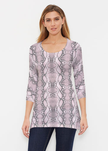 Python Blush (7273) ~ Buttersoft 3/4 Sleeve Tunic