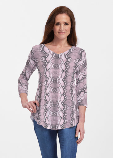 Python Blush (7273) ~ Signature V-neck Flowy Tunic