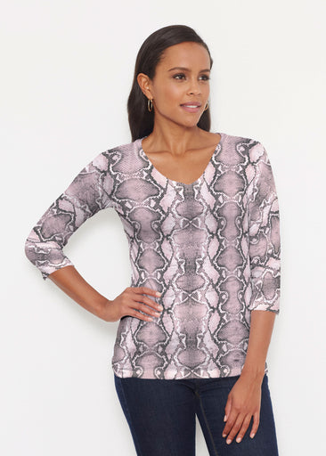 Python Blush (7273) ~ Signature 3/4 V-Neck Shirt