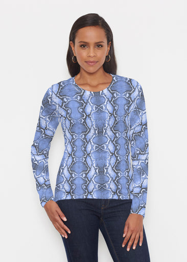 Python Blue (7275) ~ Signature Long Sleeve Crew Shirt