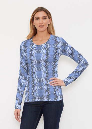 Python Blue (7275) ~ Thermal Long Sleeve Crew Shirt