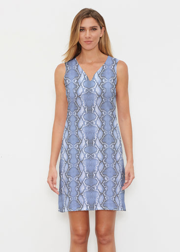 Python Blue (7275) ~ Classic Sleeveless Dress