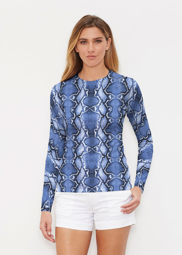 Python Blue (7275) ~ Long Sleeve Rash Guard