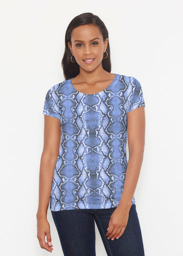 Python Blue (7275) ~ Signature Short Sleeve Scoop Shirt