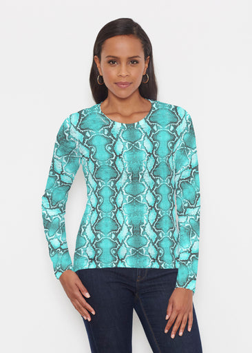 Python Aqua (7277) ~ Signature Long Sleeve Crew Shirt