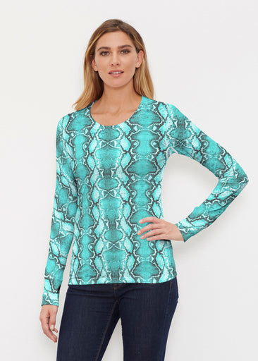 Python Aqua (7277) ~ Thermal Long Sleeve Crew Shirt