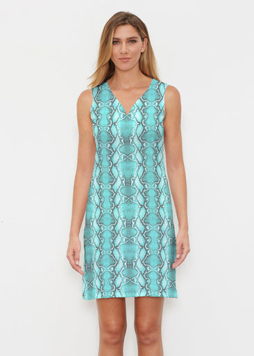 Python Aqua (7277) ~ Classic Sleeveless Dress