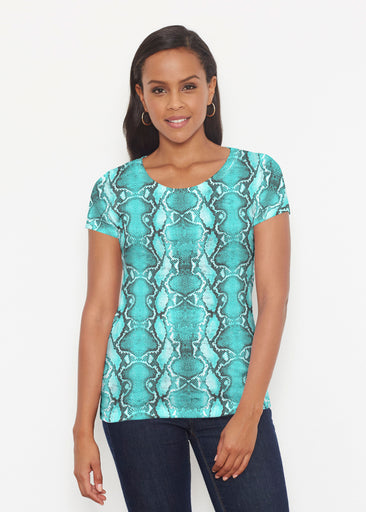 Python Aqua (7277) ~ Signature Short Sleeve Scoop Shirt