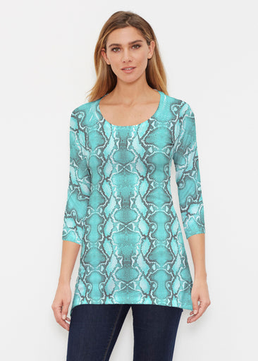 Python Aqua (7277) ~ Buttersoft 3/4 Sleeve Tunic