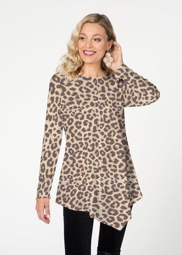 Jaguar Sand (7280) ~ Asymmetrical French Terry Tunic
