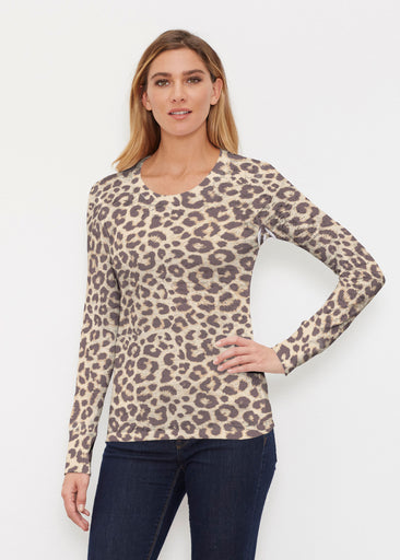 Jaguar Sand (7280) ~ Thermal Long Sleeve Crew Shirt