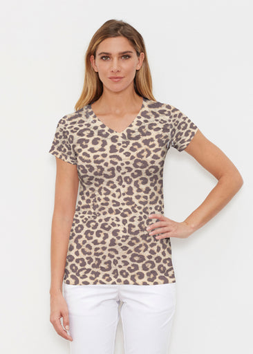 Jaguar Sand (7280) ~ Signature Cap Sleeve V-Neck Shirt