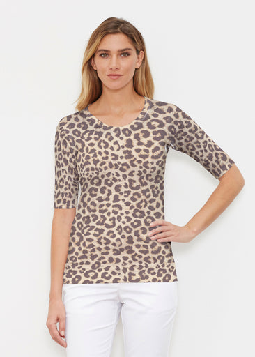 Jaguar Sand (7280) ~ Signature Elbow Sleeve Crew Shirt