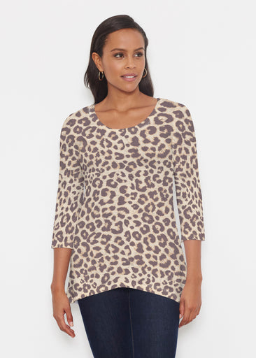 Jaguar Sand (7280) ~ Katherine Hi-Lo Thermal Tunic