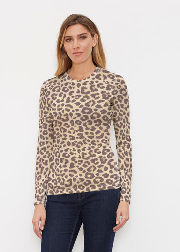 Jaguar Sand (7280) ~ Butterknit Long Sleeve Crew Top