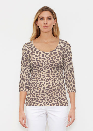 Jaguar Sand (7280) ~ Signature 3/4 Sleeve Scoop Shirt