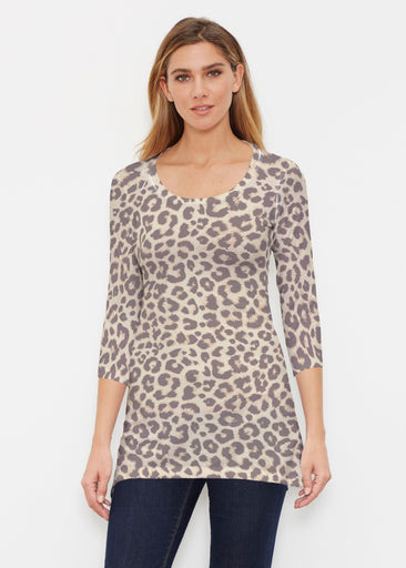 Jaguar Sand (7280) ~ Buttersoft 3/4 Sleeve Tunic