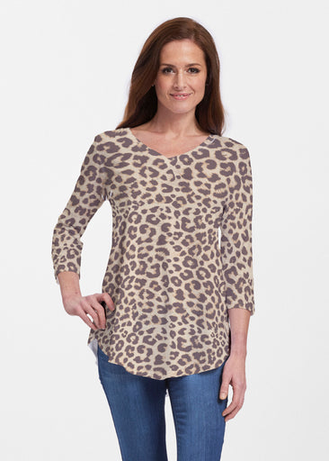 Jaguar Sand (7280) ~ Signature V-neck Flowy Tunic