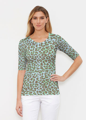 Jaguar Mint (7285) ~ Signature Elbow Sleeve Crew Shirt