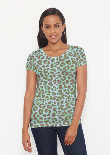 Jaguar Mint (7285) ~ Signature Short Sleeve Scoop Shirt