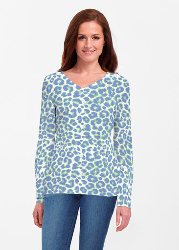 Jaguar Royal (7287) ~ Classic V-neck Long Sleeve Top