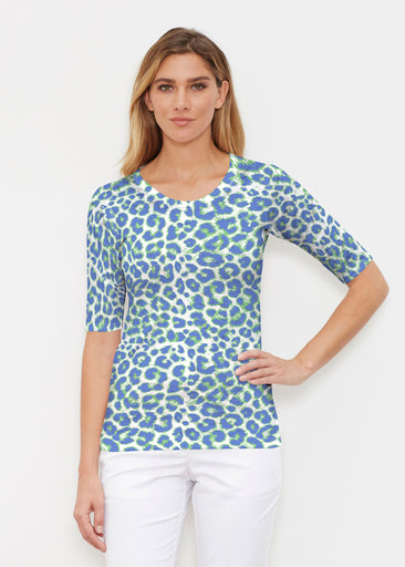 Jaguar Royal (7287) ~ Signature Elbow Sleeve Crew Shirt
