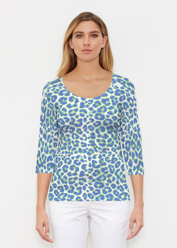 Jaguar Royal (7287) ~ Signature 3/4 Sleeve Scoop Shirt