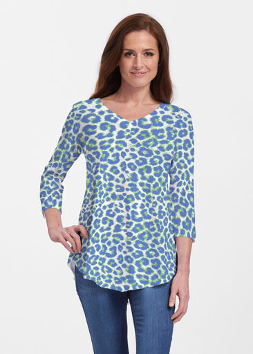 Jaguar Royal (7287) ~ Signature V-neck Flowy Tunic