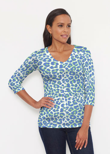 Jaguar Royal (7287) ~ Signature 3/4 V-Neck Shirt