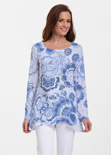 Carnation Periwinkle (7575) ~ Abigail Thermal Tunic