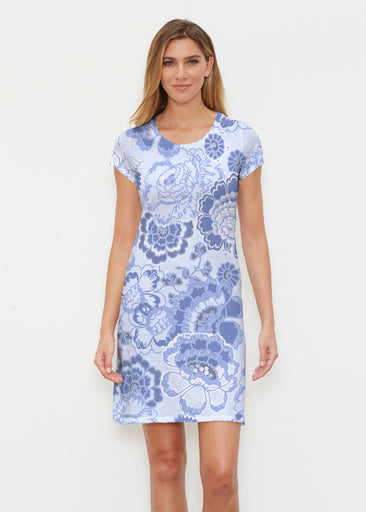Carnation Periwinkle (7575) ~ Classic Crew Dress