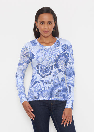 Carnation Periwinkle (7575) ~ Signature Long Sleeve Crew Shirt