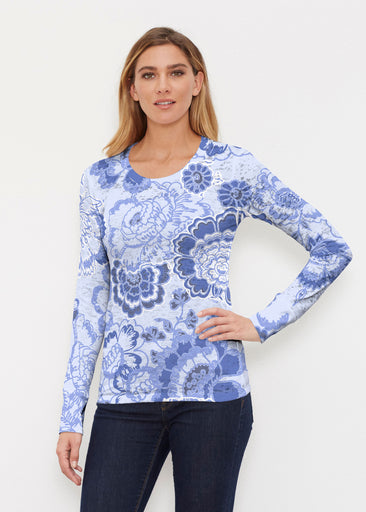 Carnation Periwinkle (7575) ~ Thermal Long Sleeve Crew Shirt