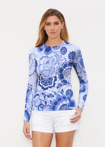 Carnation Periwinkle (7575) ~ Long Sleeve Rash Guard