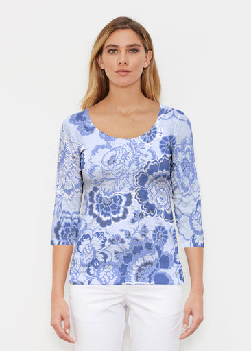 Carnation Periwinkle (7575) ~ Signature 3/4 Sleeve Scoop Shirt