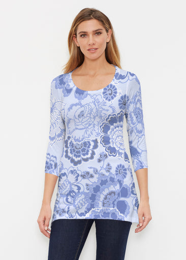 Carnation Periwinkle (7575) ~ Buttersoft 3/4 Sleeve Tunic