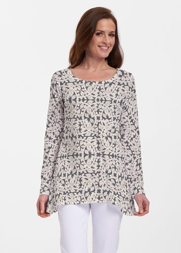 Topiary Cream (7581) ~ Abigail Thermal Tunic