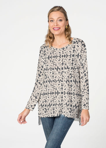 Topiary Cream  (7581) Slouchy Butterknit Top