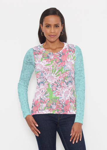 Floral Awakening (7599) ~ Signature Long Sleeve Crew Shirt