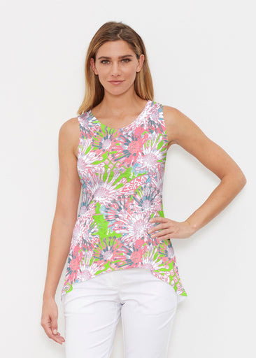 Floral Awakening (7599) ~ Signature High-low Tank